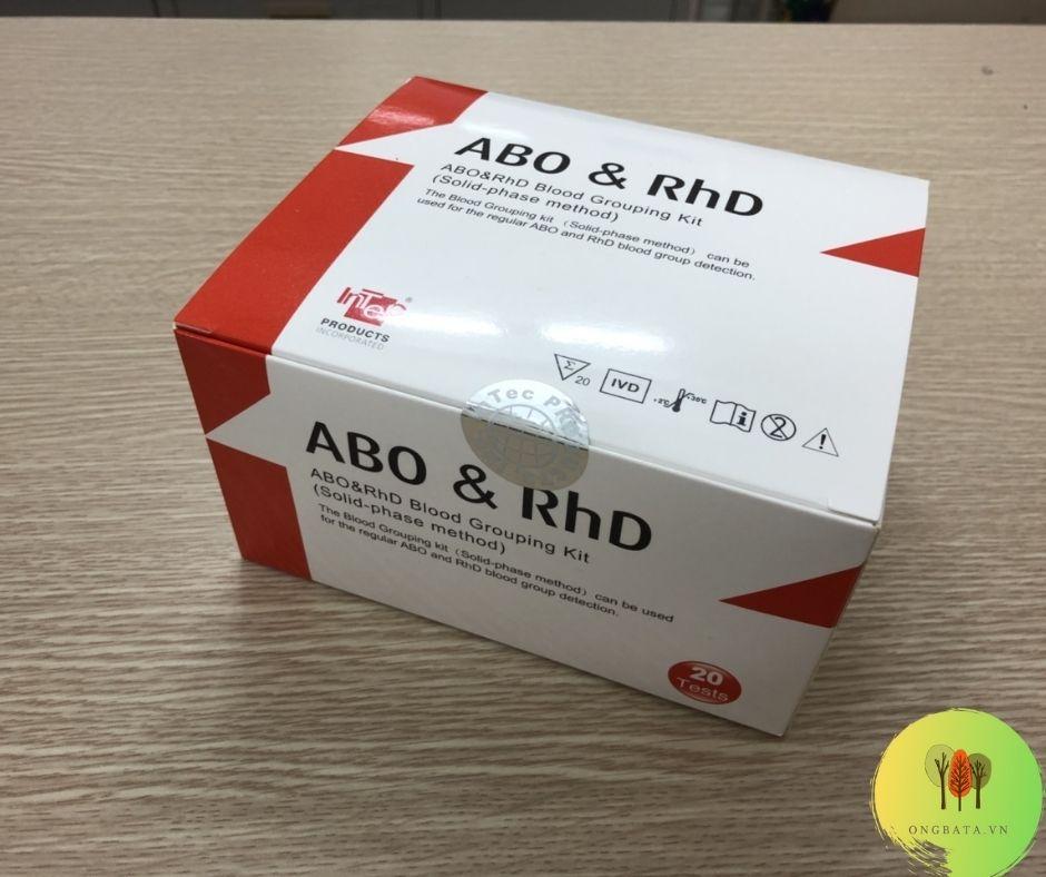 KIT THỬ NHANH và cách kiểm tra xét nghiệm nhom máy tại nhà MÁU ABO & rhD