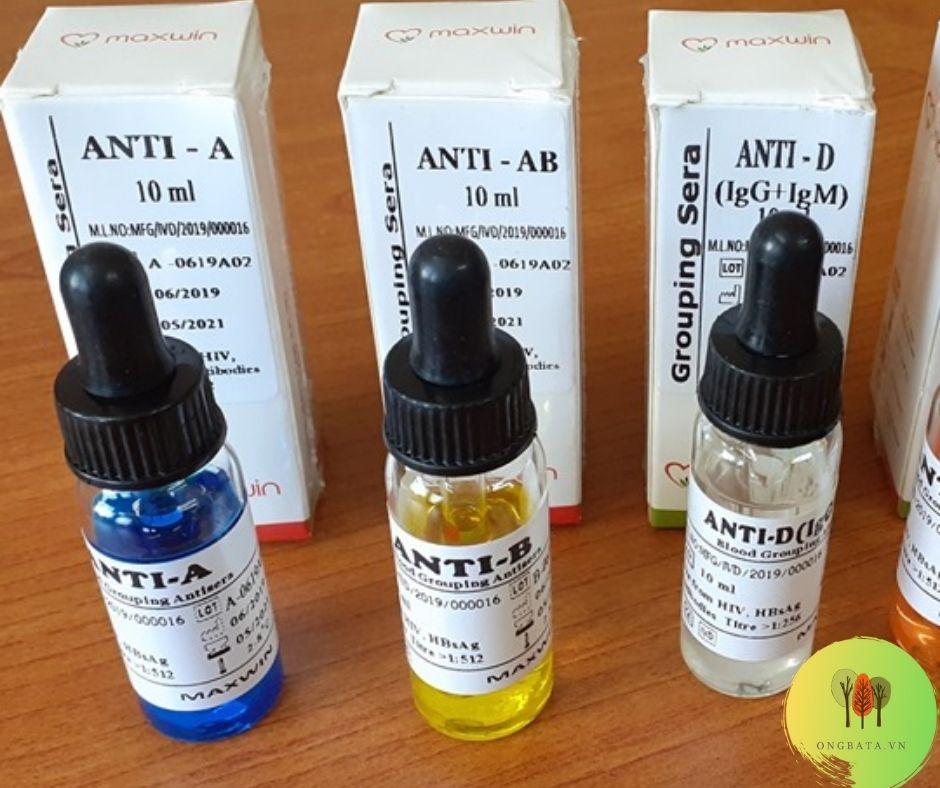 Thuốc thử nhóm máu A, B, AB, D tại nhà và tra cứu nhóm máu online sau khi đã lưu trữ