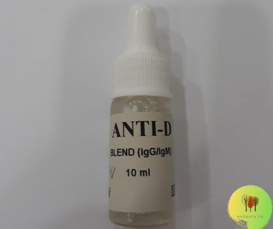 Cách xét nghiệm kiểm tra nhóm máu tại nhà - bộ Anti A B AB D BioMed