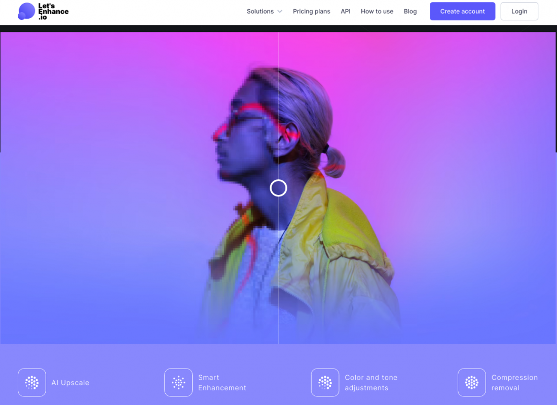 Let's Enhance: Tăng độ phân giải mà không làm vỡ hình ảnh   online